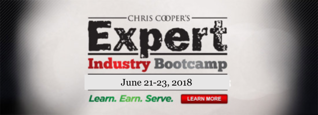 Expert Industry Bootcamp 2018